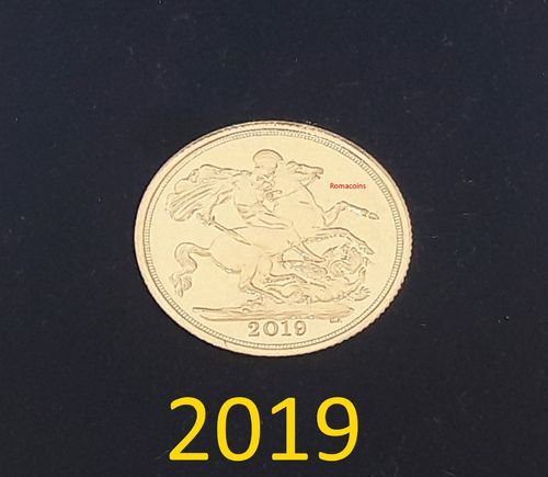 Britische Sovereign 2019 Goldmünze Queen Elizabeth 917 / 1000