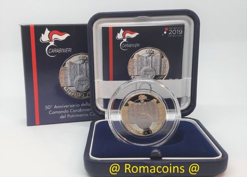 5 Euros Italie 2019 Bimétallique Carabinieri Be Proof
