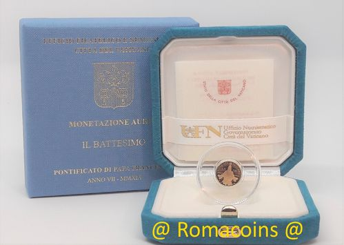 10 Euro Vatican 2019 Gold Coin Proof Baptism