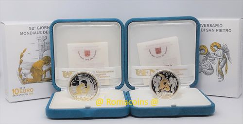 5 + 10 Euro Vatican 2019 Gold and Silver Proof