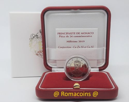 2 Euro Commemorativi Monaco 2019 Honoré V Proof Fs