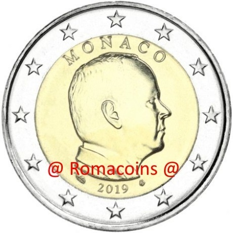 2 euro monaco 2019 unc uncirculated coin unfindable romacoins