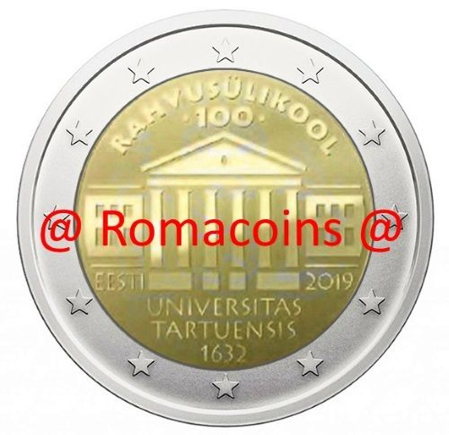 2 Euro Commemorativi Estonia 2019 Università di Tartu