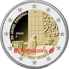 2 Euro Commemorativi Germania 2020 Kniefall Unc